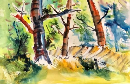Plein Air Trees